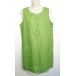 J. Jill 100% Linen Sleeveless Shift Dress 2793E1